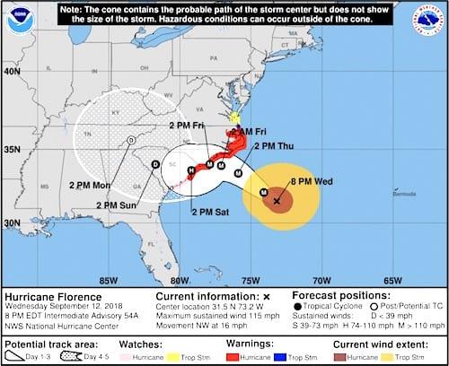 "Hurricane Florence: ""Storm Of A Lifetime"" – RAMP – Radio and"